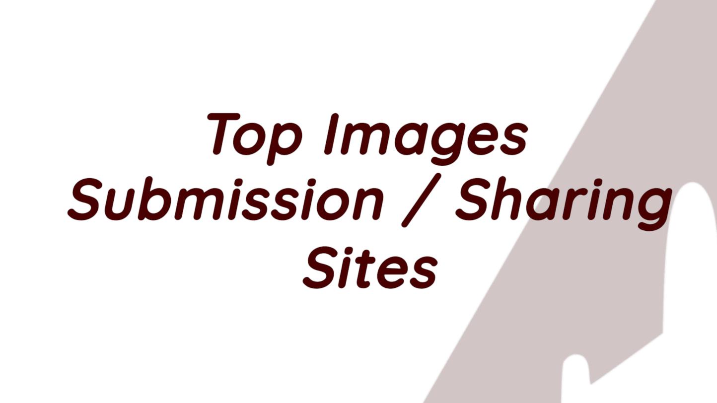 High DA Dofollow Image Sharing Sites